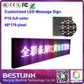 Бегущая строка с p10 из светодиодов для rgb из светодиодов сообщение зарегистрировать 48 * 176 пикселей бегущий текст из светодиодов доска из светодиодов реклама