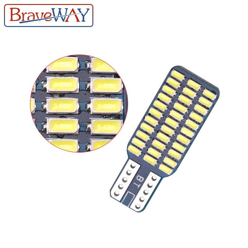 חלקי חילוף bauknecht BraveWay T10 192 194 168 W5W נורות LED 33 SMD 3014 רכב זנב אורות כיפת מנורה לבן DC 12V CANbus שגיאה חינם (4)