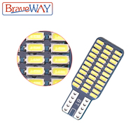 אורות כיפת מנורה לבן BraveWay T10 192 194 168 W5W נורות LED 33 SMD 3014 רכב זנב אורות כיפת מנורה לבן DC 12V CANbus שגיאה חינם (4)