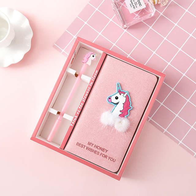 Flamingo notebook girl planner Kawaii agenda cactus sketchbook diary note  book weekly stationery filofax planners 2019