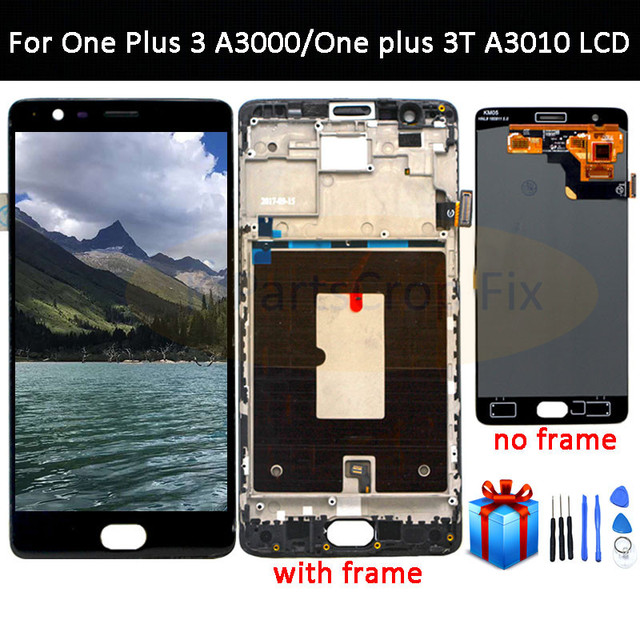 Oneplus 3 หน้าจอ Lcd Oneplus 3T จอแสดงผลทดสอบหน้าจอเปลี่ยนสำหรับ Oneplus 3T A3010 A3000 a3003 5.5 นิ้ว