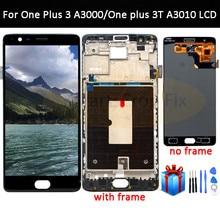 Oneplus 3 lcd 화면 oneplus 3 t 디스플레이 화면 oneplus 3 t a3010 a3000 a3003 5.5 인치 용 프레임 교체로 테스트 된 화면