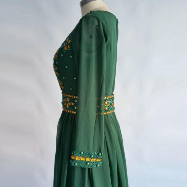 Moroccan Kaftan Evening Dress 2018 LORIE Gold Beading Prom Dresses Long  Sleeve Muslim Abaya In Dubai b0e0c5e4fec6