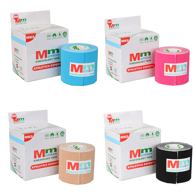 Elastic Roll Adhesive Kinesiology Tape Sports Injury Muscle Strain Protection Bandage Support in Braces Supports from Beauty Health