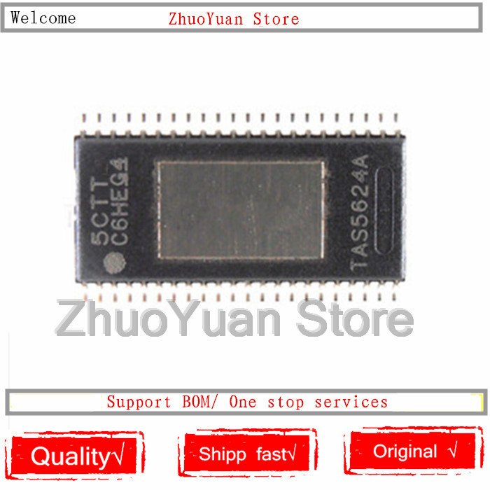1PCS/lot New Original TAS5624ADDVR TAS5624A TAS5624 HTSSOP-44 IC Chip