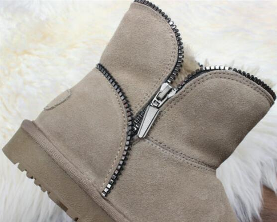 Careaymade-female short boots 2019 new winter snow boots shoes with thick soles cashmere barrel cotton snow boots ,5 colors