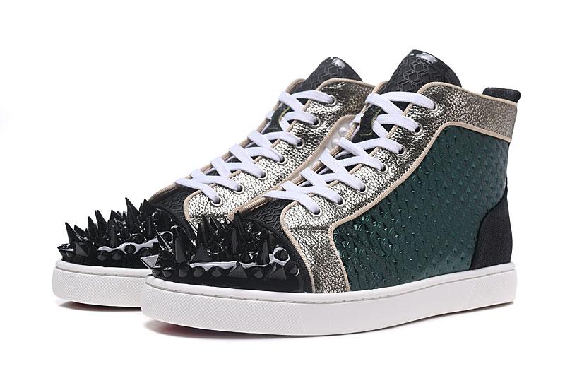 Хит продаж, зимние мужские кожаные туфли темно-зеленого цвета, уникальные кожаные туфли с высоким берцем, мужские туфли на шнуровке, мужские...