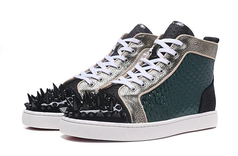 Лидер продаж; Сезон Зима; темно зеленая кожа; мужские уникальные высокие Топы; кожаные туфли с носком; повседневная обувь на шнуровке; мужска