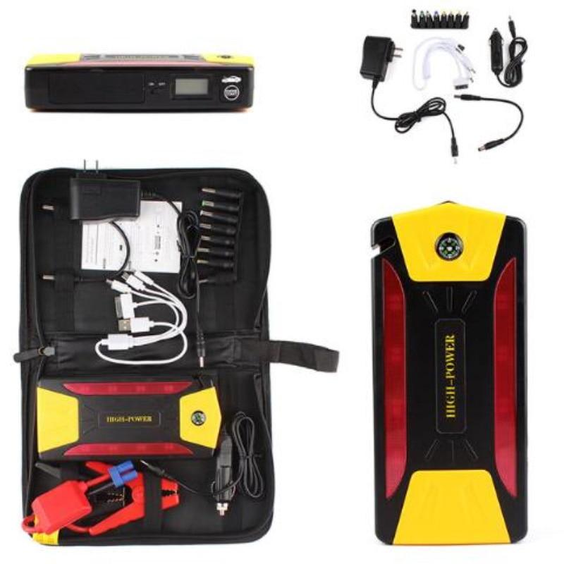 Chargeur de batterie de voiture haute puissance 82800 mAh 4USB démarrage de voiture Kit d'outils de batterie externe Booster de démarrage automatique