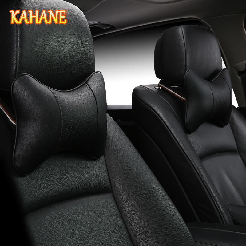 KAHANE 2x Car Styling Headrest Supplies Neck Auto Safety Black For Toyota CHR RAV4 Corolla Yaris <font><b>Peugeot</b></font> 3008 2008 307 508 <font><b>207</b></font> image