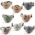 New Arrival Skull Half Face CS Military Skeleton Warrior 3 Generations Masquerade Mask Air soft Paintball mask