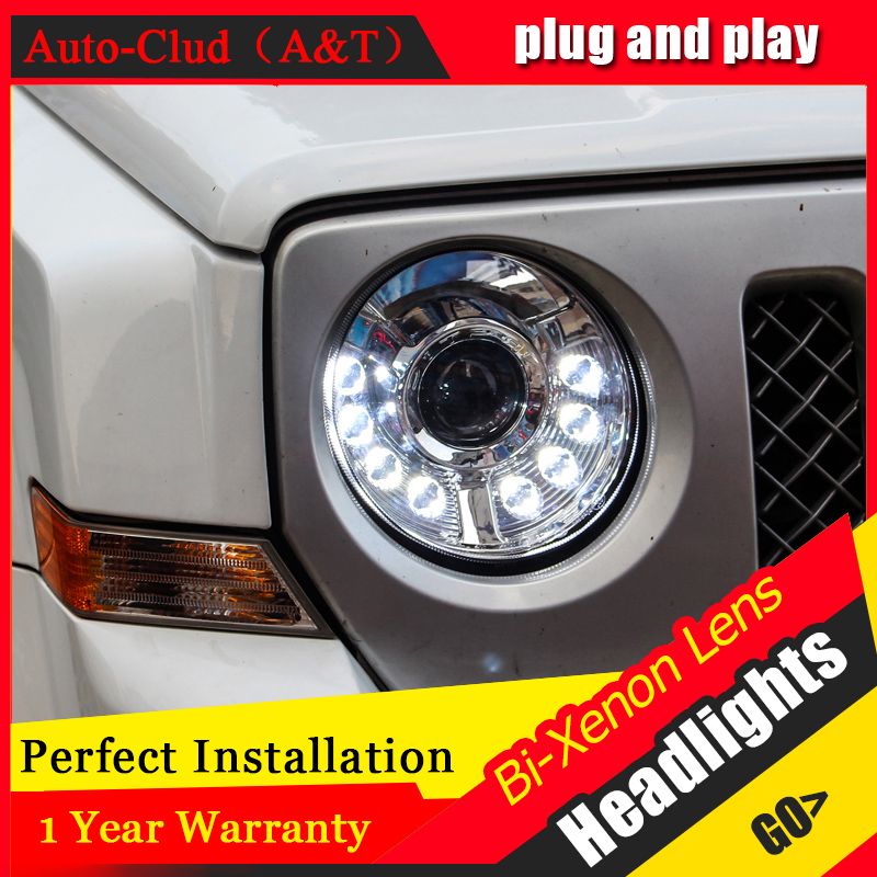 car styling For Jeep Liberty headlights U angel eyes DRL 2013 2015 For Jeep Liberty LED