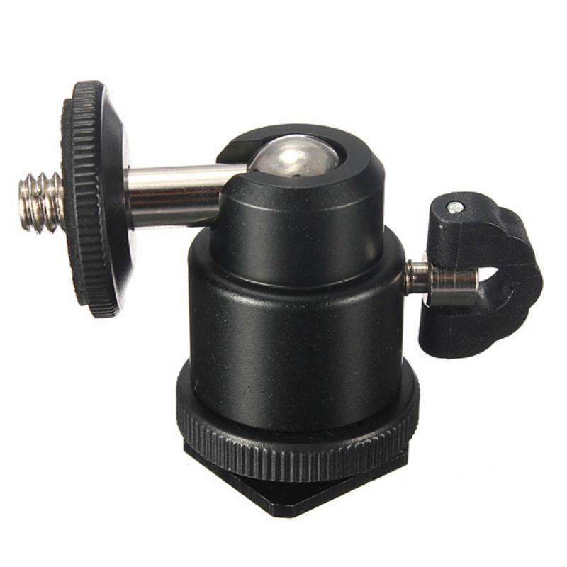 New Black Camera Tripod LED Light Flash Bracket Holder Mount 1/4 Hot Shoe Adapter Cradle Ball Head With Lock Cheap