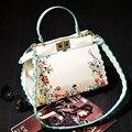 AEQUEEN Luxury Women Leather Handbags Embroidery Shoulder Bags Ladies Rivet Crossbody Bags Tote Bag