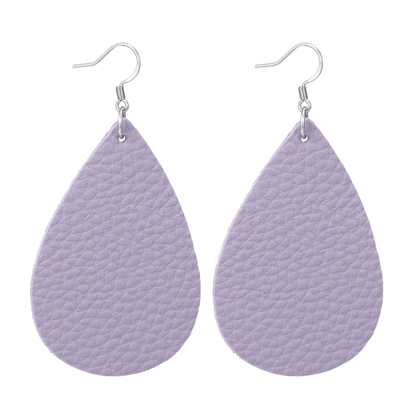 New Teardrop Leather Earrings Petal Drop Earrings Antique Lightweight S925 Carved Stainless Steel Earrings For Women Gifts 24