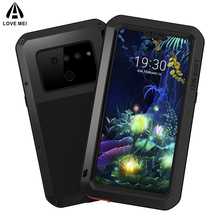 Love Mei Metal Case For LG V40 V50 ThinQ Shockproof Phone Armor Anti-Fall Cover Full Body Rugged Shell