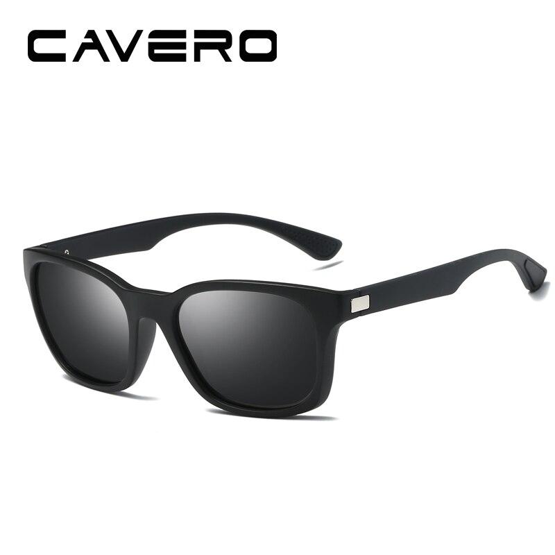 CAVERO 2018 Unisex Retro Polarized Sunglasses Men Brand Design Black Frame Fishing Driving Eyewear Male Sun Glasses Oculos W0921