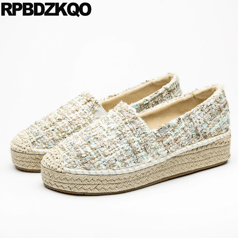 sneakers online here new list Hemp Creepers Platform Shoes Woven Women Rope Elevator Latest ...