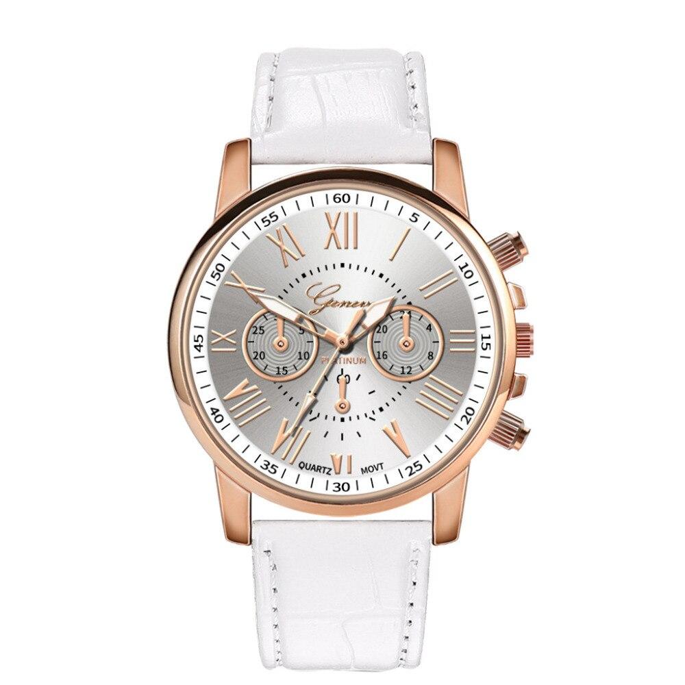 GENEVA Leather Quartz Watch Women Ladies Fashion Bracelet Wrist Watch Wristwatches Clock Relogio Feminino Masculino Reloj Mujer