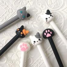 цены 28 Pcs/Lot Cute Cat Pen Cartoon Claw Gel Pens 0.5mm Black Lovely Kitties Stationery Office Accessories School Supplies F588