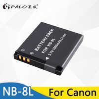 PALO Batterie Für Canon NB-8L NB8L NB 8L Li-Ion Akku Für Canon PowerShot A3300 A3200 A3100 A2200 A1200 IST Kamera batterie Pack