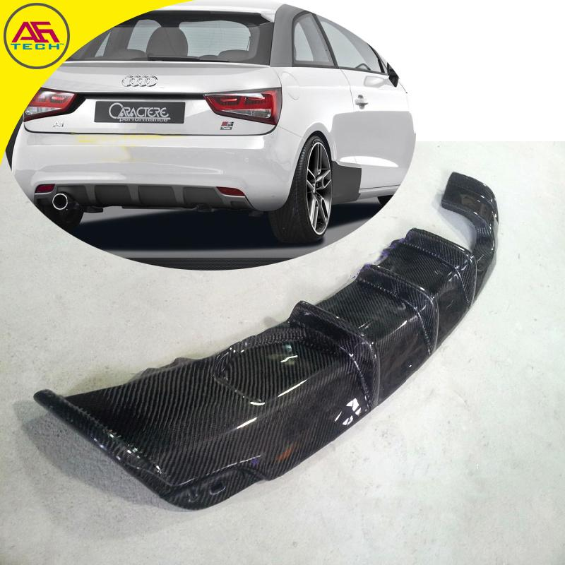 Carbon fiber RG style A1 standard rear diffuser rear bumper chin lip back bottom cover for Audi A1 hatchback 2010-2014