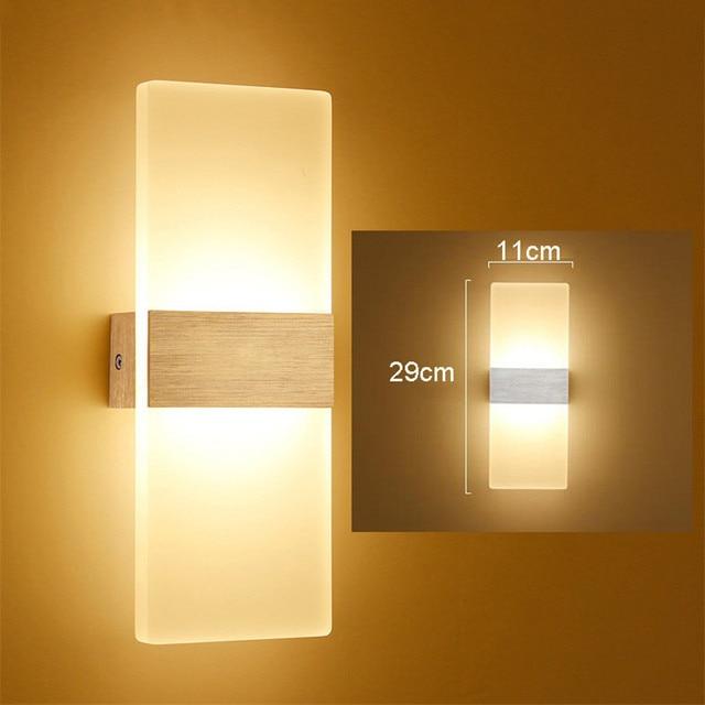 6W Modern Simple Led Wall lamp Light Sconce 110V 220V Translucent ...