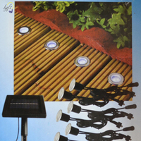 Solar Stainless Underground 8 Light Heads 16 LED Brick Deck Lamp Solar Floor Buried Light Garden Pathway Spot Lighting