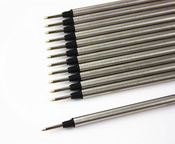 more than gel pen refill writes smoother ball pen refill capacity sufficient tip wear can be applied to most roller pen 10pcs/lot  Pen Refill rod cartridge roller Ball pen For ball pen core refill black ink recharge