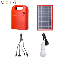 Small Solar Generator Field Emergency Charging LED Lighting System For Household Solar Street Lighting