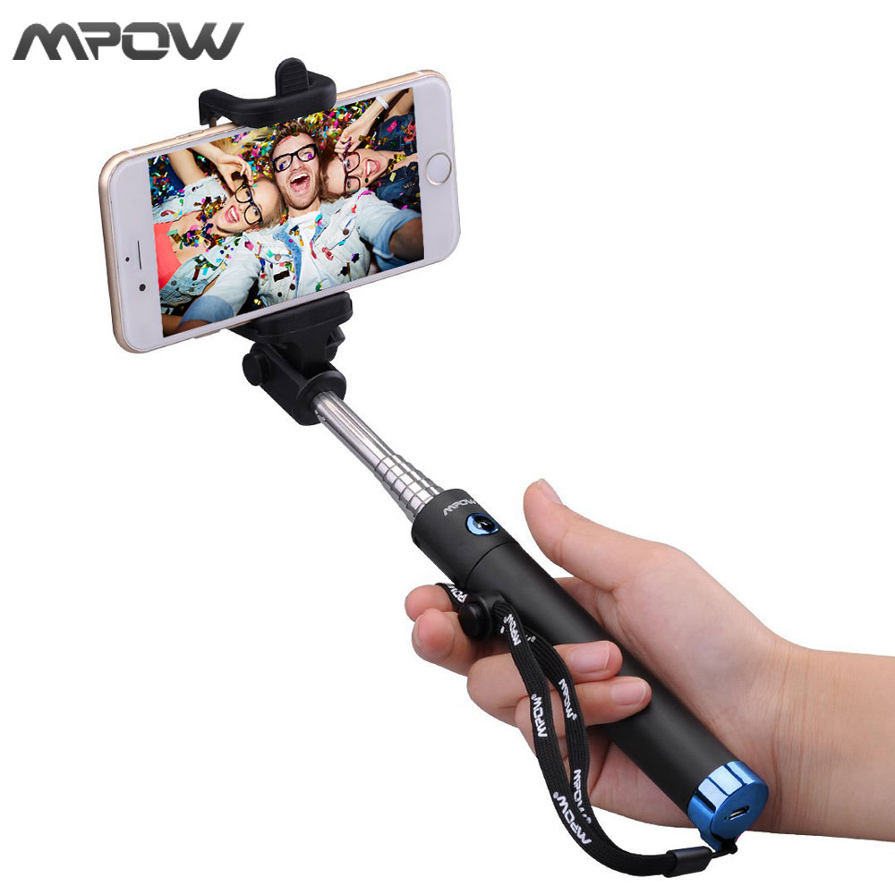 MBT8 New Version Mpow iSnap X U-Shape Pro Tripod Monopod Selfie Stick Bluetooth Remote Control Holder for iPhone Android Xiaomi