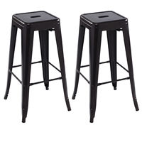 Giantex Set Of 2 Metal Steel Bar Stools Vintage Antique Style Copper Counter Bar Stool Home