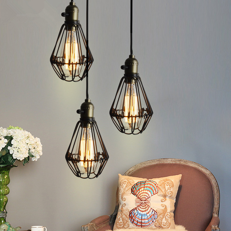 Aliexpress.com : Buy Vintage Iron Black Pendant Light Cage