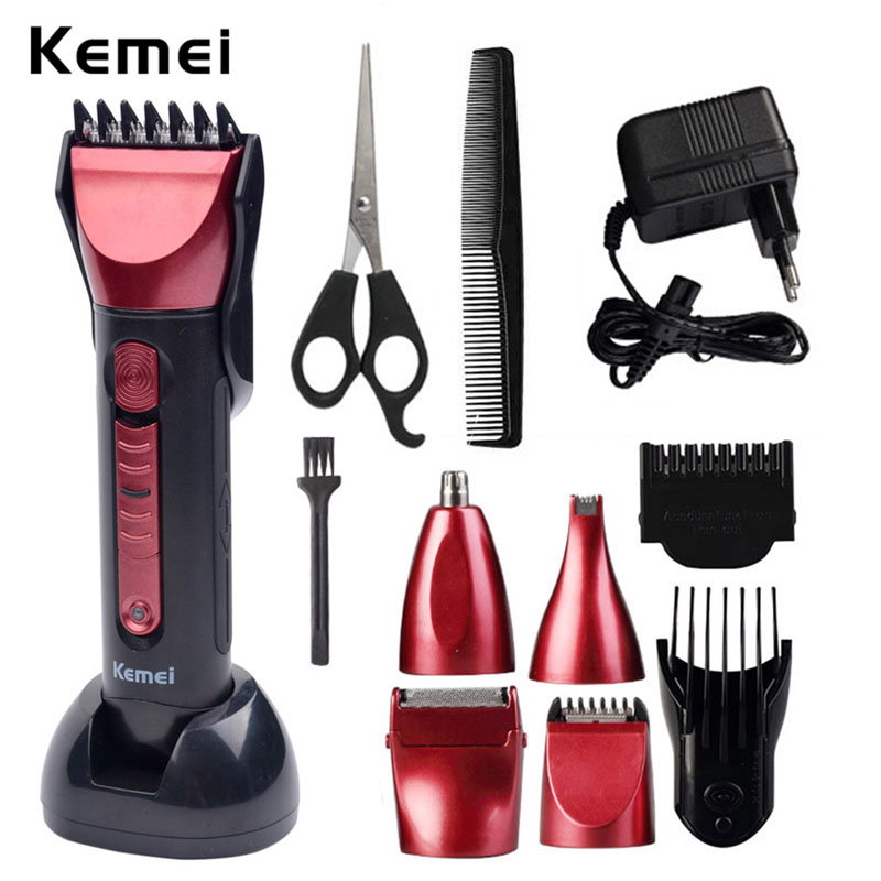 5 In 1 Washable Electric Shaver Razor Beard Trimmer Rechargeable Hair Trimmer Clipper Set Men Styling Tools Shaving Machine 334 multifunction electric shaver razor washable shaving machine with hair clipper nose trimmer washing face toothbrush 3d rotary