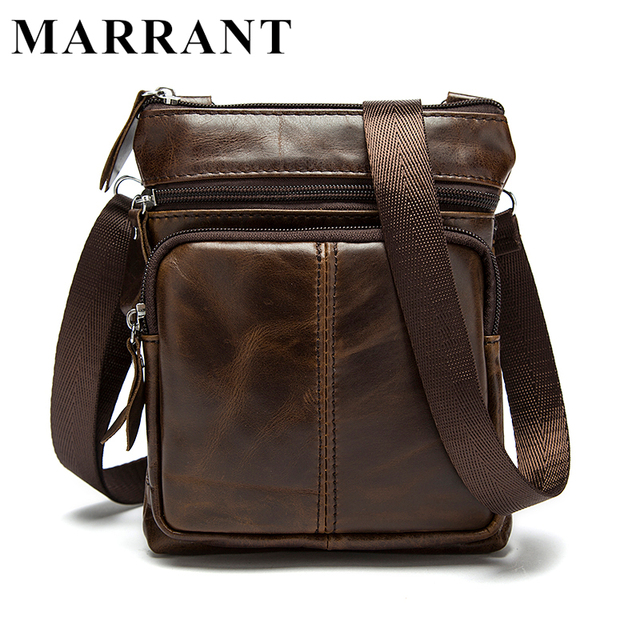 MARRANT Genuine Leather bag male Men Bags Small Shoulder Crossbody bags Handbags casual Messenger Flap Men Leather bag M701