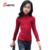 Suéter de la Muchacha niños Primavera 2017 Nueva Moda Trompeta Mangas de La Muchacha Del Niño Ropa de Bebé Niña Suéter de Color Sólido Simple 4721 W