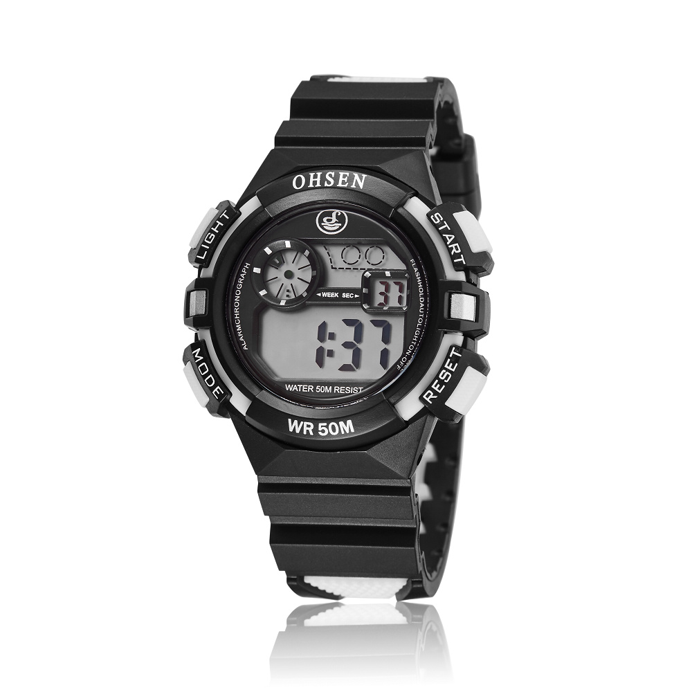 high quality nice watch brands for men promotion shop for high ohsen brand digital sport boys children date day alarm wrist watch nice xmas gift waterproof white