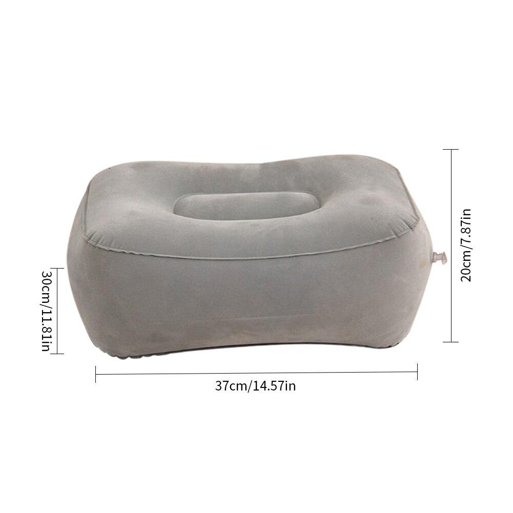 HTB1KuDgX0fvK1RjSspoq6zfNpXaU 2019 Hot Useful Inflatable Portable Travel Footrest Pillow Plane Train Kids Bed Foot Rest Pad PVC For Travel Massage Car