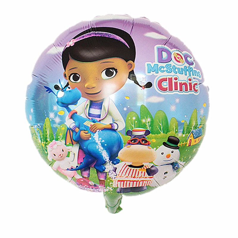 QGQYGAVJ Free Shipping Arrival McStuffins Doctor Helium Balloon Kids Birthday Party Decoration Toys Children Mylar Balloons