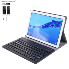 For Huawei MediaPad T5 10 AGS2-W09/L09/L03/W19 10.1'Wireless Bluetooth Keyboard Case Cover For Huawei T5 10 Removable Funda(China)