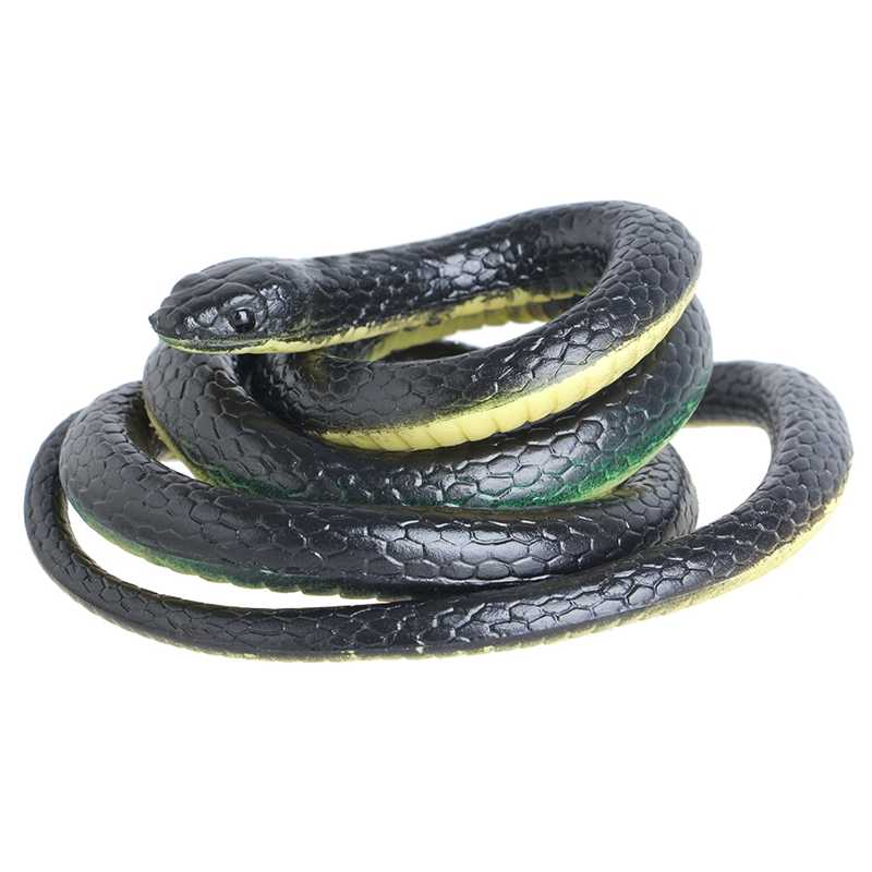 130cm Realistic Plastic Tricky Toy Fake Snakes Garden Props Joke Prank Halloween Horror Toys for Adults PP Plastic Snake New