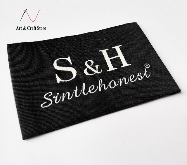 30 pieces customized your own logo garment clothing main label