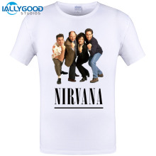 2017 New Arrival Fashion Rock Band SEINFELD NIRVANA Design Printed T-Shirt Men/Boy Punk Rock T Shirt Mens Cool Tee Tops 6XL 5XL