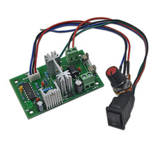 цена на DC speed control board, 12V/24V motor speed controller, PWM control module CW/CCW, stepless speed controller