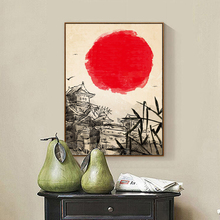 ZeroC Japanese Art Print Ink Painting Tower Wall Hanging Poster Picture for Living Room Decoration Home decor zeroc japanese ink canvas art print poster zen wall paintings for living room decoration home decor