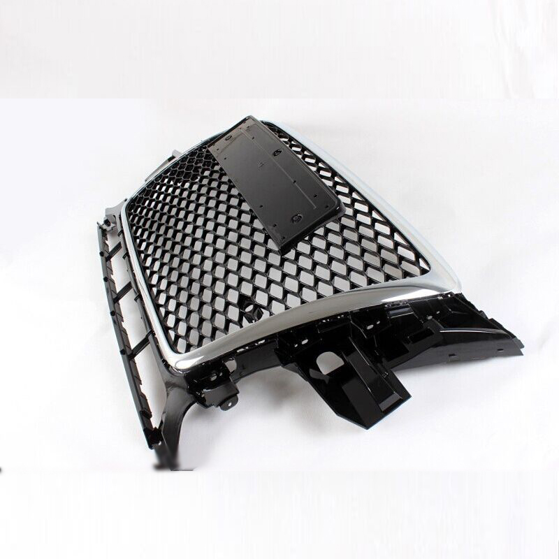 2009 2012 RSQ5 Style Chrome Frame Front Bumper mesh Honeycomb Grill Grille For Audi Q5