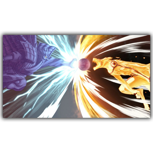 Naruto Poster Japanese Home Silk Picture Print 30x53cm 60x106cm