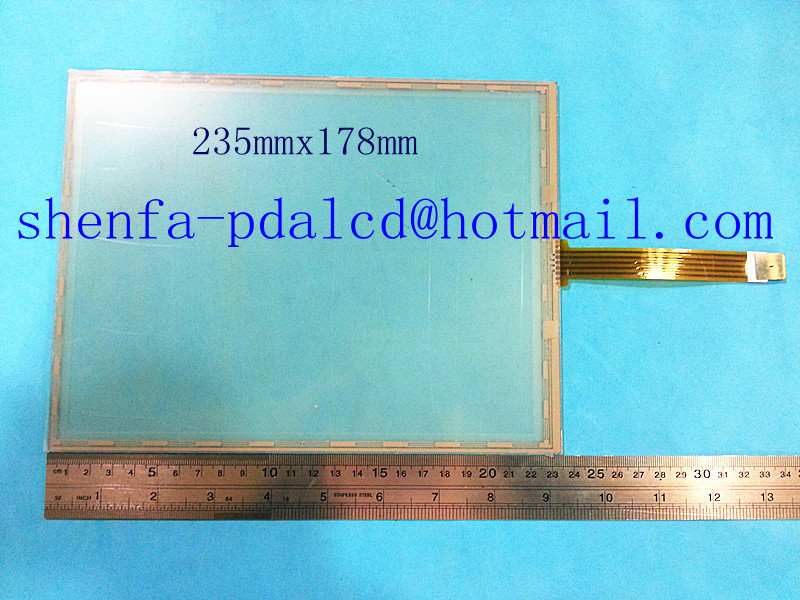ФОТО New 10.4 inch 5 wire Resistive Touch screen digitizer panel 235mm*175mm Touch/GPS/Tablet PC/MID touch panel