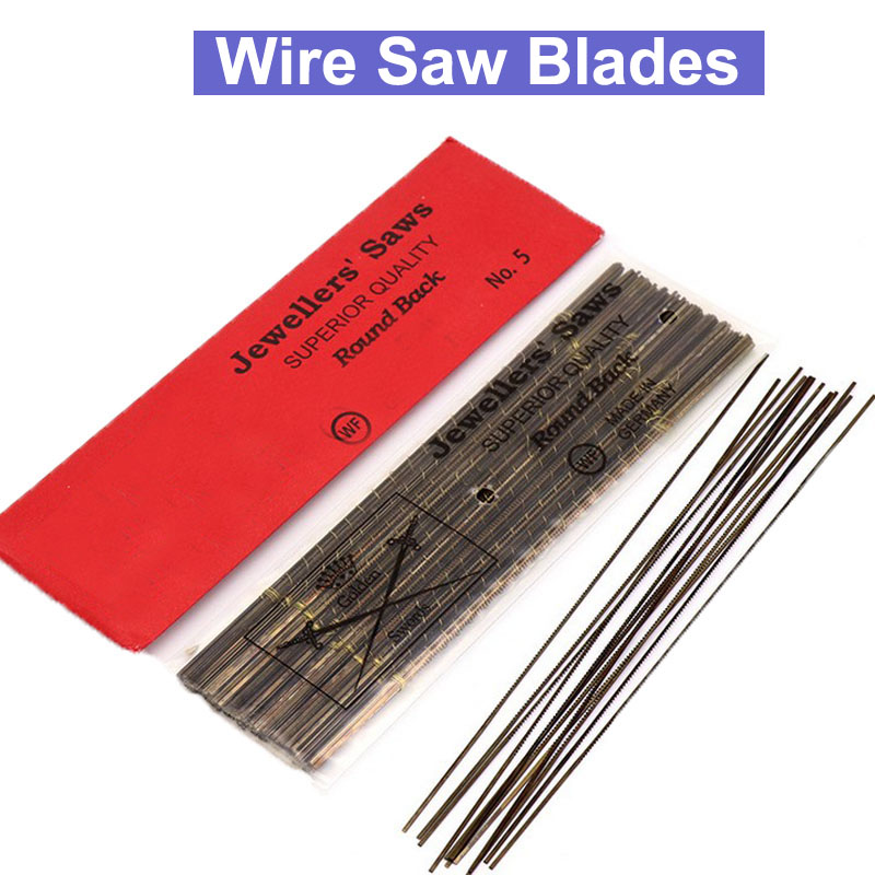 URANN 12pcs/lot 130mm Diamond Wire Saw Blade Cutter Jewelry Metal Cutting Jig Saw Blades Woodworking Hand Craft Tools