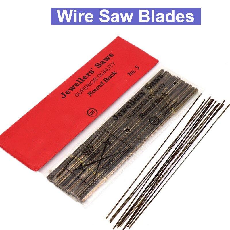 URANN 12pcs/lot 130mm Diamond Wire Saw Blade Cutter Jewelry Metal Cutting Jig Saw Blades Woodworking Hand Craft Tools